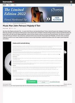 Bonedo.de Music Man John Petrucci Majesty 6