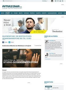 Amazona.de Special: Studio-Gesangsmikrofone Teil 2, Mittelklasse bis 750,- Euro
