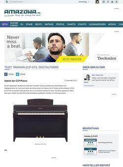 Amazona.de Test: Yamaha CLP-575, Digitalpiano