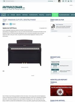 Amazona.de Test: Yamaha CLP-575, Digitalpiano