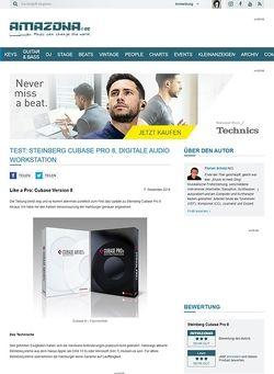 Amazona.de Test: Steinberg Cubase Pro 8, Digitale Audio Workstation
