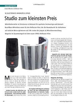 Recording Magazin sE Electronics Magneto & SPACE
