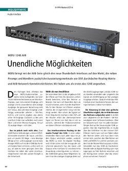 Recording Magazin MOTU 1248 AVB