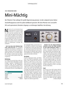 Recording Magazin SPL Phonitor mini