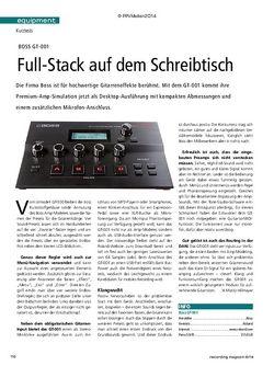 Recording Magazin Boss GT-001