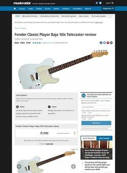 MusicRadar.com Fender Classic Player Baja '60s Telecaster