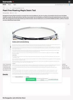 Bonedo.de Pearl Free Floating Maple Snare