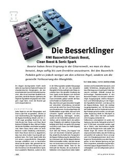 Gitarre & Bass RMI Basswitch Classic Boost, Clean Boost & Sonic Spark, Bass-FX