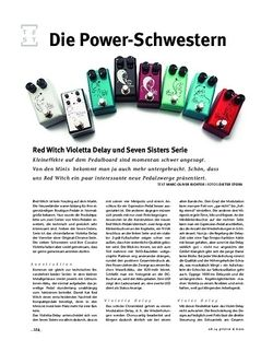 Gitarre & Bass Red Witch Violetta Delay und Seven Sisters Serie, FX-Pedale