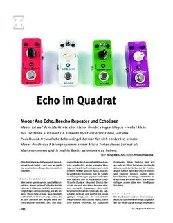 Gitarre & Bass Mooer Ana Echo, Echolizer, Reecho und Repeater