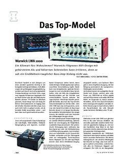 Gitarre & Bass Warwick LWA 1000 Top, Bass-Topteil