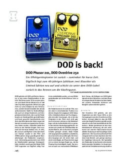 Gitarre & Bass DOD Phasor 201, DOD Overdrive 250, FX-Pedals