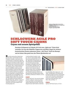 Sticks Schlagwerk Agile Pro Soft Touch Cajons