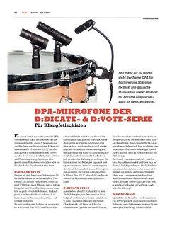 Sticks DPA-Mikrofone der D:Dicate- & D:Vote-Serie