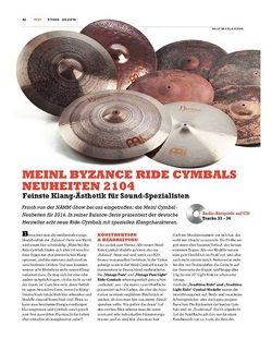 Sticks Meinl Byzance Ride-Cymbal-Neuheiten 2014