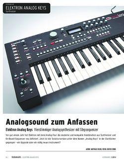 Keyboards Elektron Analog Keys - Vierstimmiger Analogsynthesizer mit Stepsequenzer