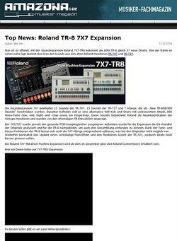 Amazona.de Top News: Roland 7X7-TR8 Drum Machine Expansion