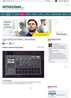 Amazona.de Test: Korg Electribe 2, Groovebox