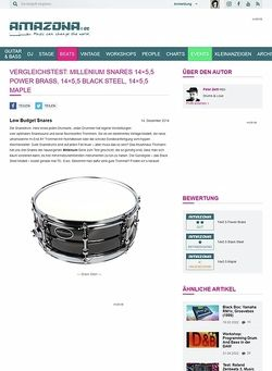 Amazona.de Vergleichstest: Millenium Snares 14x5,5 Power Brass, 14x5,5 Black Steel, 14x5,5 Maple
