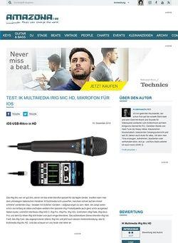 Amazona.de Test: IK Multimedia iRig Mic HD, Mikrofon für iOS