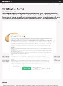 Bonedo.de PRS SE Kingfisher Bass