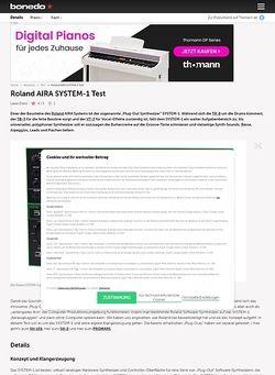 Bonedo.de Roland AIRA System-1