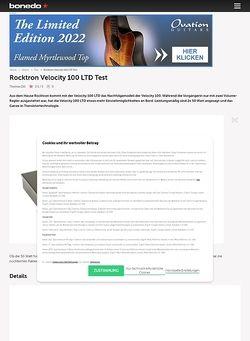 Bonedo.de Rocktron Velocity 100 LTD
