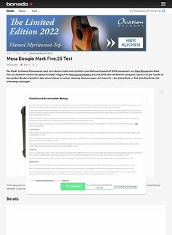 Bonedo.de Mesa Boogie Mark Five:25