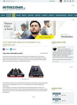 Amazona.de Test: AKAI AMX und AFX für SERATO, DJ-Controller