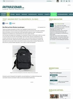 Amazona.de Test: Magma Riot DJ-Backpack, Dj-Bag