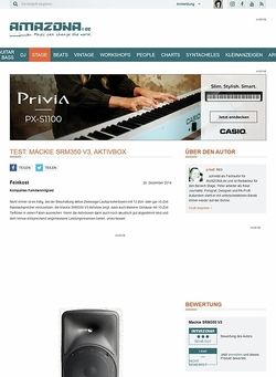Amazona.de Test: Mackie SRM350 V3, Aktivbox
