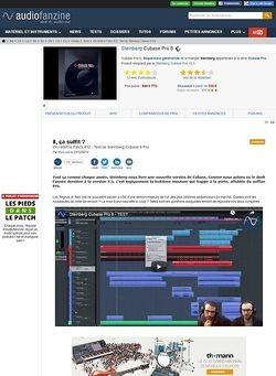 Audiofanzine.com Steinberg Cubase Pro 8