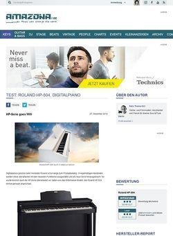 Amazona.de Test: Roland HP-504, Digitalpiano
