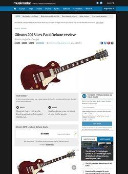 MusicRadar.com Gibson 2015 Les Paul Deluxe