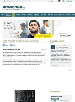 Amazona.de Test: Reloop RMX-80 Digital, DJ-Mixer