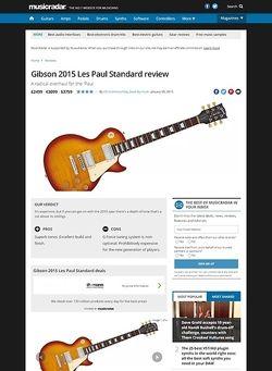 MusicRadar.com Gibson 2015 Les Paul Standard
