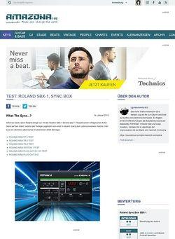 Amazona.de Test: Roland SBX-1, Sync Box