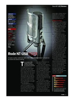 Future Music Rode NT-USB