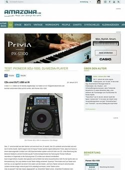 Amazona.de Test: Pioneer XDJ-1000, DJ-Media-Player