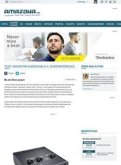 Amazona.de Test: Novation Audiohub 2x4, Audiointerface