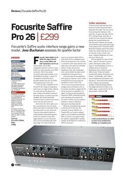 Future Music Focusrite Saffire Pro 26
