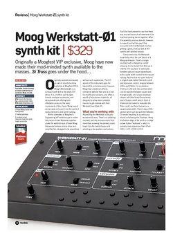 Future Music Moog Werkstatt-01 synth kit