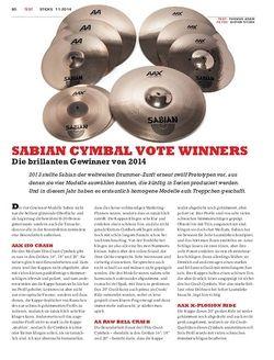 Sticks Sabian Cymbal Vote Winners