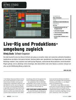 Keyboards Bitwig Studio - Was der Software-Sequenzer live leistet