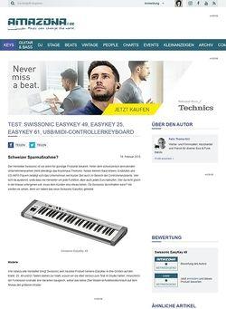 Amazona.de Test: Swissonic EasyKey 49, EasyKey 25, EasyKey 61, USB/MIDI-Controllerkeyboard