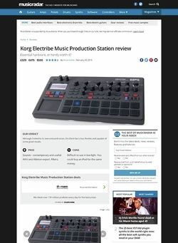 MusicRadar.com Korg Electribe Music Production Station