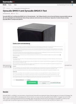 Bonedo.de Dynaudio BM9S II und Dynaudio BM14S II