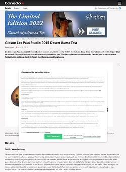 Bonedo.de Gibson Les Paul Studio 2015 Desert Burst