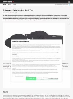 Bonedo.de Thinwood Pads Session Set 1