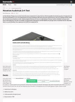 Bonedo.de Novation Audiohub 2x4